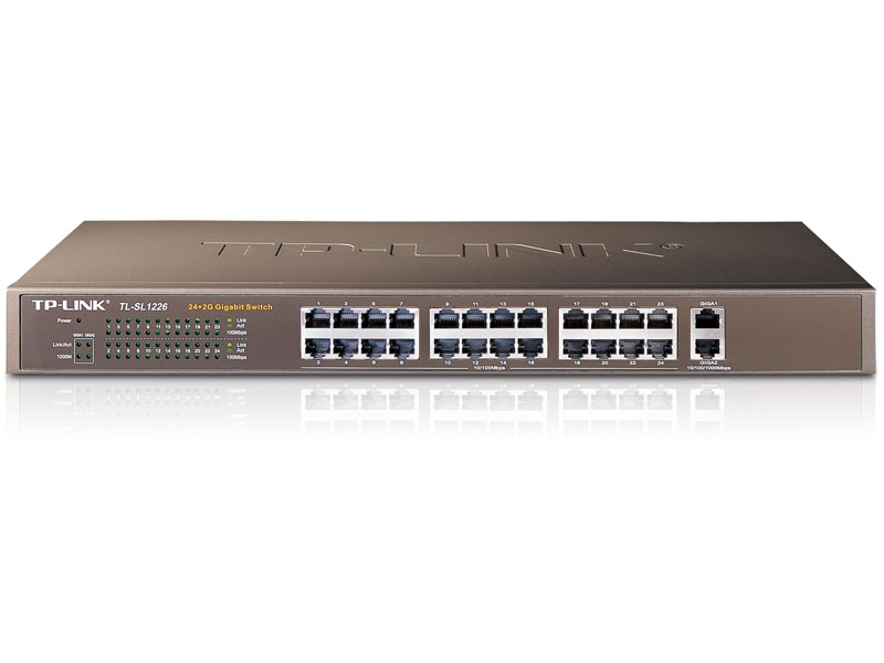 TL-SL1226: 24-Port 10/100Mbps 2-Port Gigabit Switch