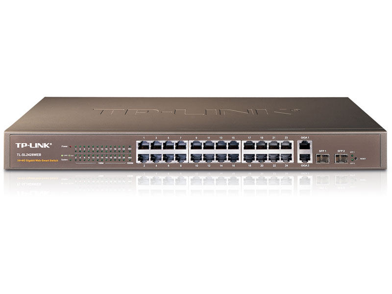 TL-SL2428Web: 24-Port 10/100Mbps 4-Port Gigabit Web Smart Switch