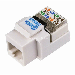 WPIN-45TL-W: Cat5e RJ45 tool-less jack keystone White