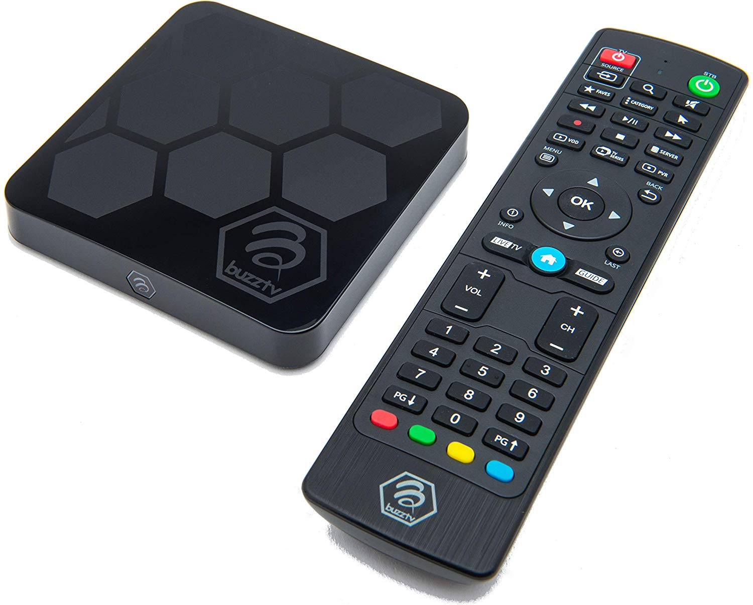 BuzzTV XR4000: Android 9.0 IPTV Set-Top Box with IR-100 Remote-4K Ultra HD