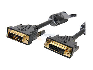 HF-CAB-DVI-DVI/24F: 6Feet DVI 24+1Male to DVI24+1Female Shielded w/Ferrite cores heavy duty extension Cable(M-F)