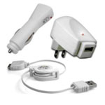 iPod-kit-c: iPod charging kit w/wall&Cigarette charger, USB-30pin Cable