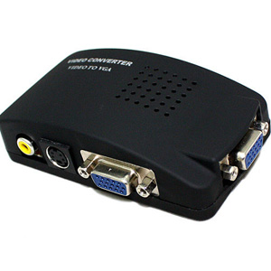 YS-AV01: PC Video And S-Video To VGA box Conversion Converter